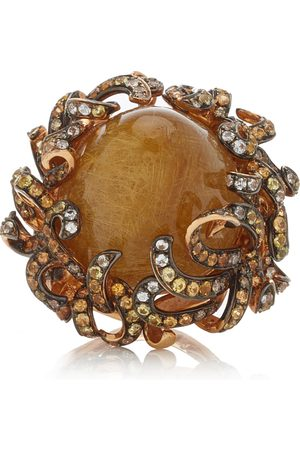 WENDY YUE Women's Foliage 18K Rose Gold Multi-Stone Ring