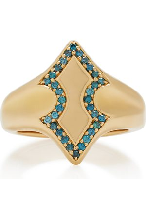 Ilana Ariel Women's Adina 18K Diamond Signet Ring