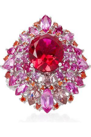 Anabela Chan Women's Mirage Ruby 18K White Gold Vermeil Ring