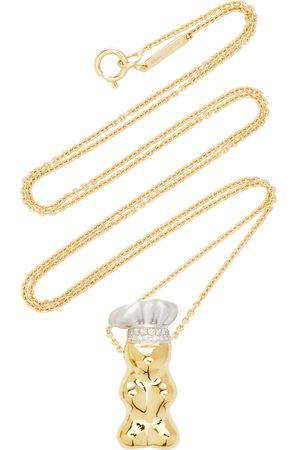 Lauren X Khoo Women's Gummy Bear Chef Hat 18K Yellow- and Diamond Necklace