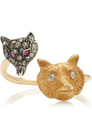 Mindi Mond Women's Foxy 14k Gold-Plated Diamond and Ruby Ring