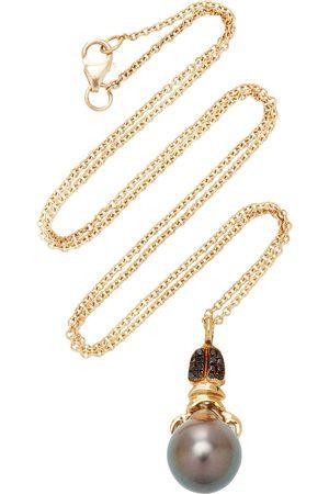DANIELA VILLEGAS Women's Khepri 18K Rose Gold; Garnet And Pearl Necklace