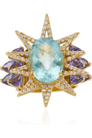 Carol Kauffmann Women's Shine 18K Yellow Gold Multi-Stone Ring