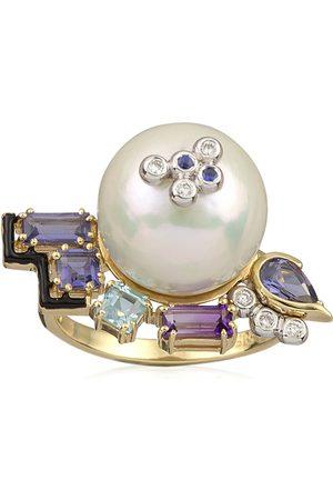 Katerina Marmagioli Women's Anemone 14K Yellow Gold Multi-Stone Ring