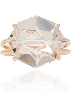 MISUI Women's 18K Rose Gold Morganite Ring