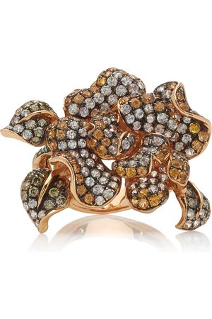 WENDY YUE Women's Golden Orchid 18K Rose Gold Multi-Stone Ring