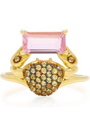 DANIELA VILLEGAS Women's Cosquilleo 18K Gold; Tourmaline and Sapphire Ring