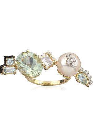 Katerina Marmagioli Women's Mediterranean Garden Treasure 14K Yellow Gold Multi-Stone Ring