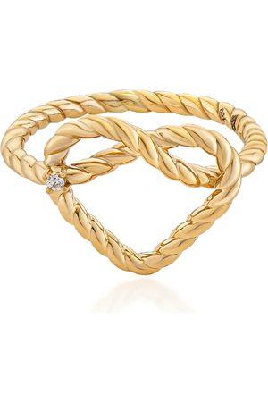 MKS JEWELLERY Women's Promise Alyada 18K Yellow Diamond Ring
