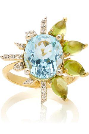 Katerina Marmagioli Women's Royal 18K Yellow Gold Topaz; Diamond; Peridot Ring