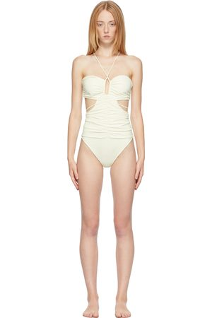 Magda Butrym Off- Strappy Cut-Out Bandeau One-Piece Swimsuit