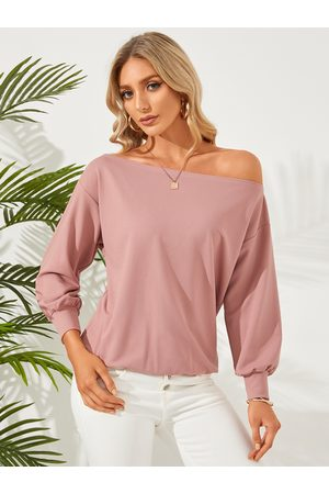 YOINS Women Long Sleeve - One Shoulder Long Sleeves Sweatshirt