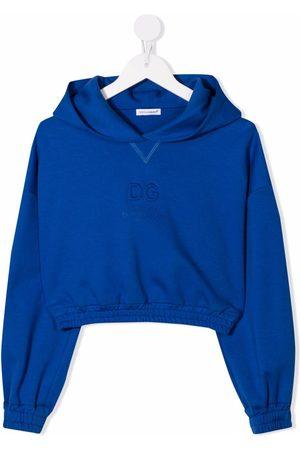 Dolce & Gabbana Logo-debossed cropped hoodie