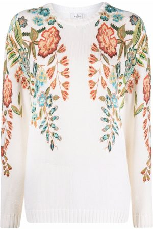 Etro Floral-print long-sleeved sweater
