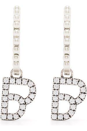 BAPY Logo-pendant hoop earrings