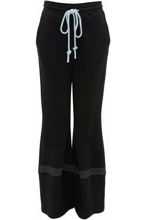 J.W.Anderson Women Wide Leg Pants - FLARED TRACK PANTS