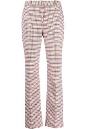 See by Chloé Check-print straight trousers