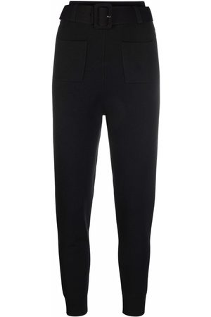 Self-Portrait Belted tapered track pants