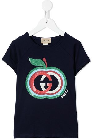 Gucci Girls Short Sleeve - Logo-print T-shirt