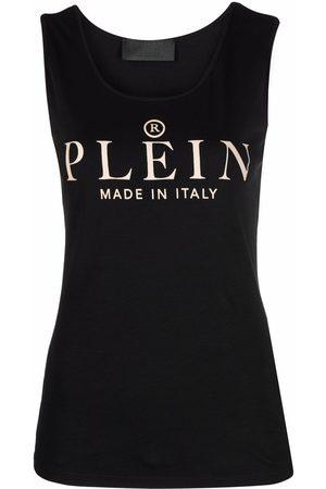 Philipp Plein Women Tank Tops - Logo-print tank top