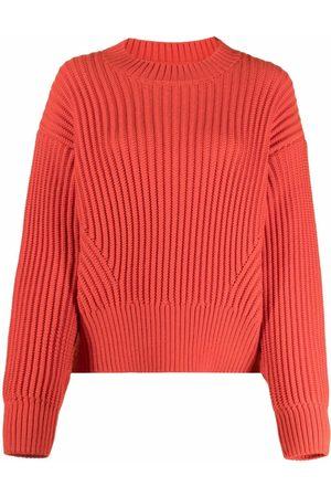Ami Ribbed-knit crew-neck jumper