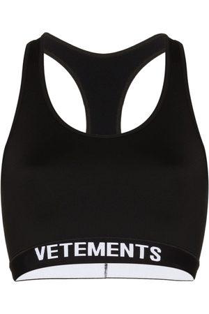 Vetements Scoop neck logo bra
