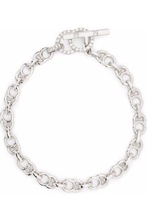 COURBET Women Bracelets - 18kt recycled white gold CELESTE laboratory-grown diamond clasp chain bracelet