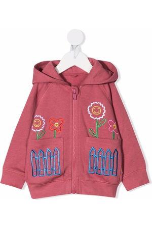 Stella McCartney Baby Hoodies - Floral-embroidered hoodie