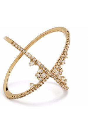 DJULA 18kt yellow Fairy Tale X diamond ring