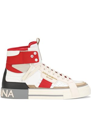 Dolce & Gabbana Men Sneakers - 2.Zero panelled high-top sneakers