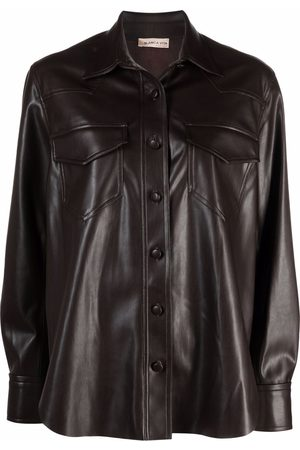 BLANCA Women Tops - Faux-leather shirt