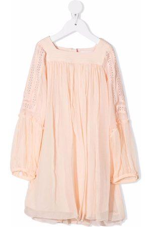Chloé Long-sleeved gathered dress
