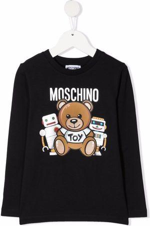 Moschino Boys Long Sleeve - Logo-print long-sleeve T-shirt