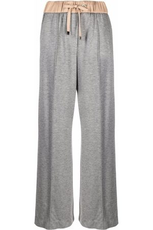 PESERICO SIGN Two-tone wide-leg track pants