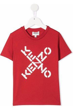 Kenzo Boys Short Sleeve - Logo-print organic cotton T-shirt