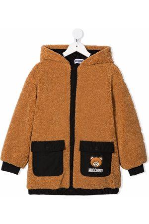 Moschino Boys Bomber Jackets - Teddy bear-motif hooded jacket