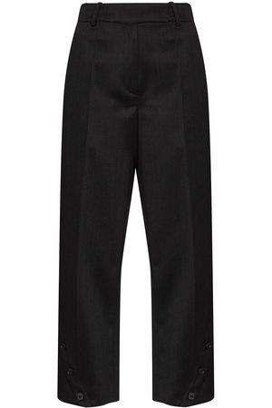 Simone Rocha Women Pants - Button-embellished straight-leg trousers