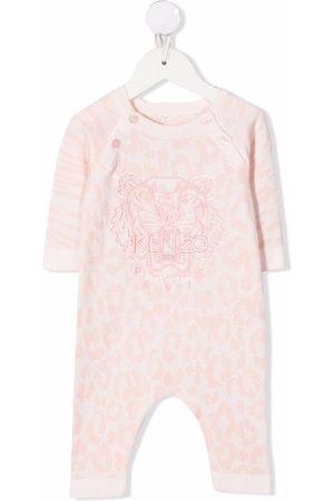 Kenzo Baby Pyjamas - Leopard-print organic cotton pyjamas
