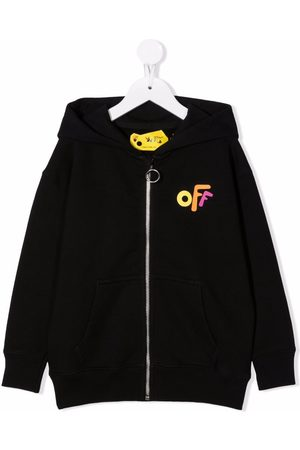 Off-White Kids OFF ROUNDED HOODIE ZIP MULTICOLOR