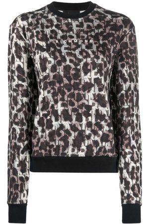 John Richmond Leopard-print cotton sweatshirt