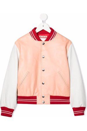 Marni Girls Sports Jackets - Leather-panel sports jacket