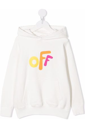 Off-White Kids Girls Hoodies - OFF ROUNDED HOODIE MULTICOLOR