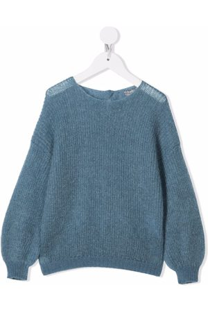 Il gufo Girls Jumpers - Button-up knitted jumper