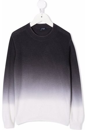 Il gufo Girls Jumpers - Gradient-effect knitted jumper