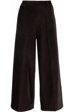 Circolo Women Culottes - Cropped corduroy culottes