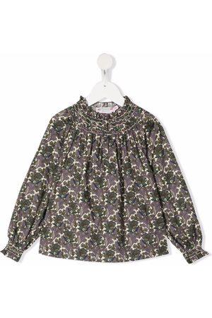 BONPOINT Floral-print smocked blouse
