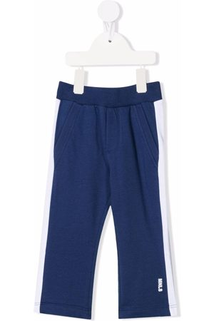 MONNALISA Baby Chinos - Contrast-panel track trousers