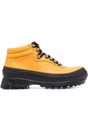 Jil Sander Women Ankle Boots - Ridged-sole ankle leatherboots