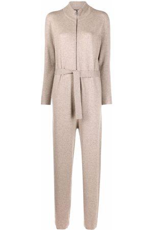 Fabiana Filippi Women Long Sleeve - Belted long-sleeve cashmere jumpsuit