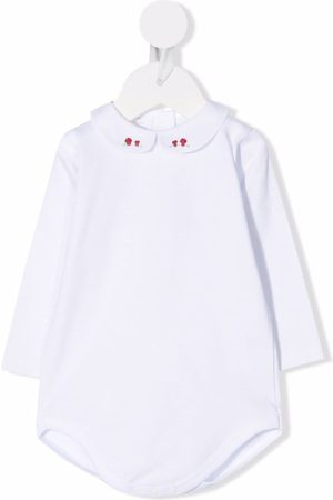 Mariella Ferrari Embroidered-collar long-sleeved top